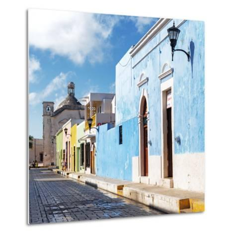 ¡Viva Mexico! Square Collection - Beautiful Colorful Street in Campeche-Philippe Hugonnard-Metal Print