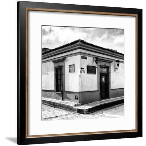 ¡Viva Mexico! Square Collection - Street Scene in San Cristobal de Las Casas IV-Philippe Hugonnard-Framed Art Print