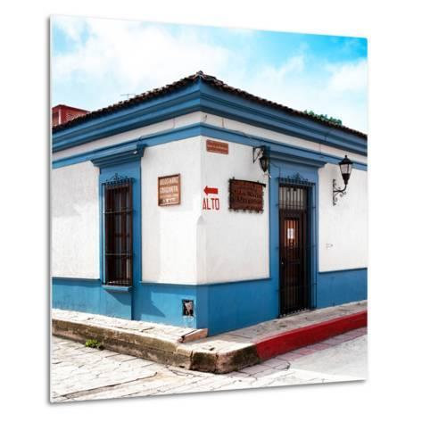 ¡Viva Mexico! Square Collection - Street Scene in San Cristobal de Las Casas III-Philippe Hugonnard-Metal Print