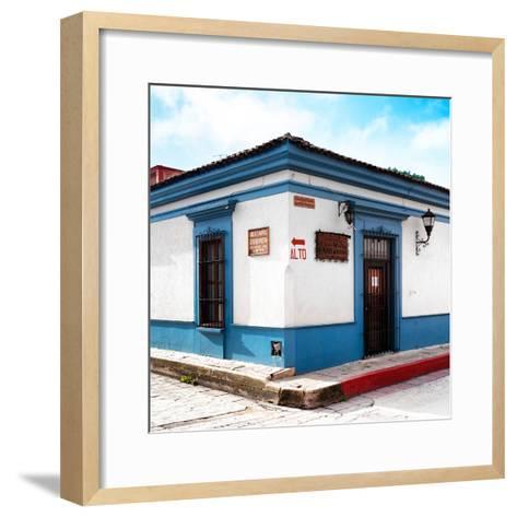 ¡Viva Mexico! Square Collection - Street Scene in San Cristobal de Las Casas III-Philippe Hugonnard-Framed Art Print