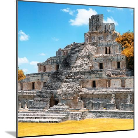 ¡Viva Mexico! Square Collection - Mayan Ruins with Fall Colors - Edzna III-Philippe Hugonnard-Mounted Photographic Print