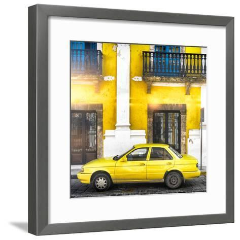 ¡Viva Mexico! Square Collection - Yellow Campeche II-Philippe Hugonnard-Framed Art Print