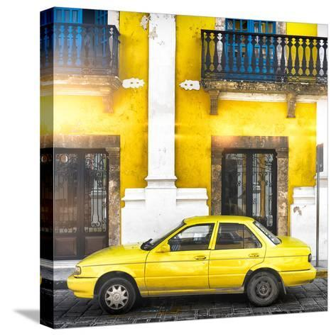 ¡Viva Mexico! Square Collection - Yellow Campeche II-Philippe Hugonnard-Stretched Canvas Print