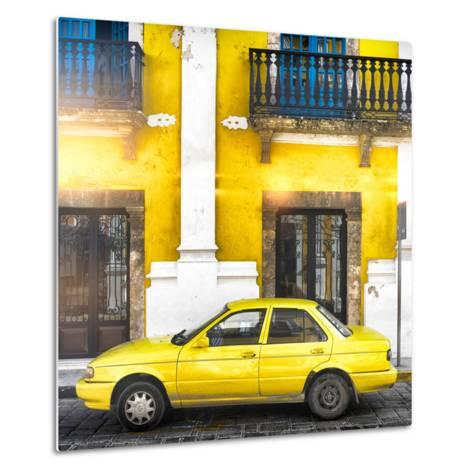 ¡Viva Mexico! Square Collection - Yellow Campeche II-Philippe Hugonnard-Metal Print