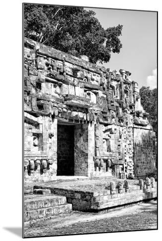 ¡Viva Mexico! B&W Collection - Hochob Mayan Pyramids V - Campeche-Philippe Hugonnard-Mounted Photographic Print