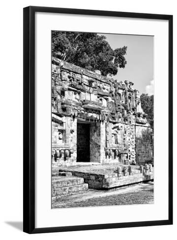 ¡Viva Mexico! B&W Collection - Hochob Mayan Pyramids V - Campeche-Philippe Hugonnard-Framed Art Print