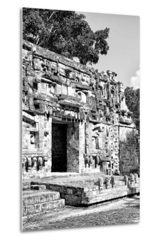 ¡Viva Mexico! B&W Collection - Hochob Mayan Pyramids V - Campeche-Philippe Hugonnard-Metal Print