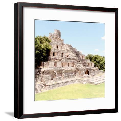 ¡Viva Mexico! Square Collection - Mayan Ruins - Edzna X-Philippe Hugonnard-Framed Art Print