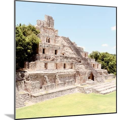 ¡Viva Mexico! Square Collection - Mayan Ruins - Edzna X-Philippe Hugonnard-Mounted Photographic Print