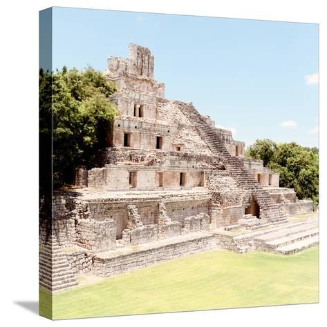 ¡Viva Mexico! Square Collection - Mayan Ruins - Edzna X-Philippe Hugonnard-Stretched Canvas Print