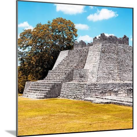 ¡Viva Mexico! Square Collection - Mayan Ruins with Fall Colors - Edzna II-Philippe Hugonnard-Mounted Photographic Print