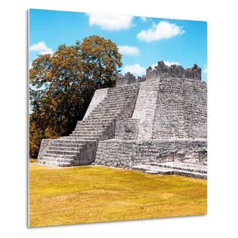 ¡Viva Mexico! Square Collection - Mayan Ruins with Fall Colors - Edzna II-Philippe Hugonnard-Metal Print