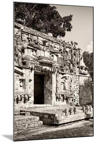 ?Viva Mexico! B&W Collection - Hochob Mayan Pyramids VI - Campeche-Philippe Hugonnard-Mounted Photographic Print