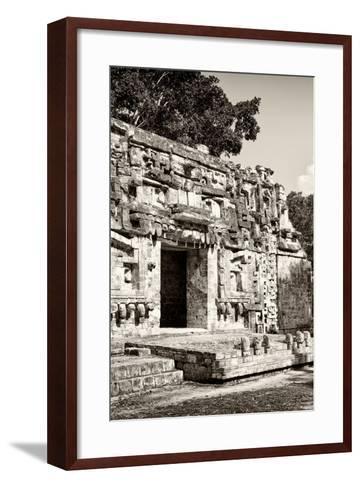 ?Viva Mexico! B&W Collection - Hochob Mayan Pyramids VI - Campeche-Philippe Hugonnard-Framed Art Print