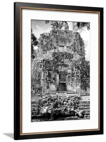 ¡Viva Mexico! B&W Collection - Mayan Ruins VI-Philippe Hugonnard-Framed Art Print