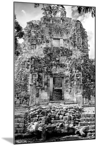 ¡Viva Mexico! B&W Collection - Mayan Ruins VI-Philippe Hugonnard-Mounted Photographic Print
