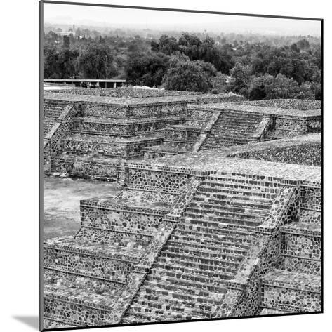 ¡Viva Mexico! Square Collection - Teotihuacan Pyramids Ruins I-Philippe Hugonnard-Mounted Photographic Print