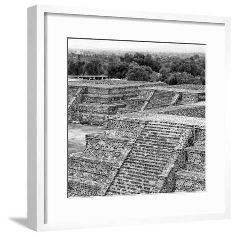 ¡Viva Mexico! Square Collection - Teotihuacan Pyramids Ruins I-Philippe Hugonnard-Framed Art Print