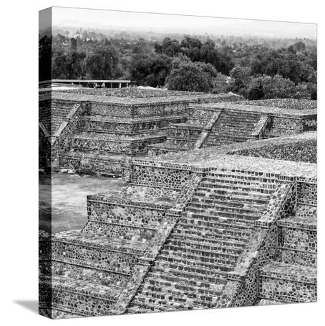 ¡Viva Mexico! Square Collection - Teotihuacan Pyramids Ruins I-Philippe Hugonnard-Stretched Canvas Print