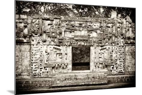 ¡Viva Mexico! B&W Collection - Hochob Mayan Pyramids - Campeche-Philippe Hugonnard-Mounted Photographic Print