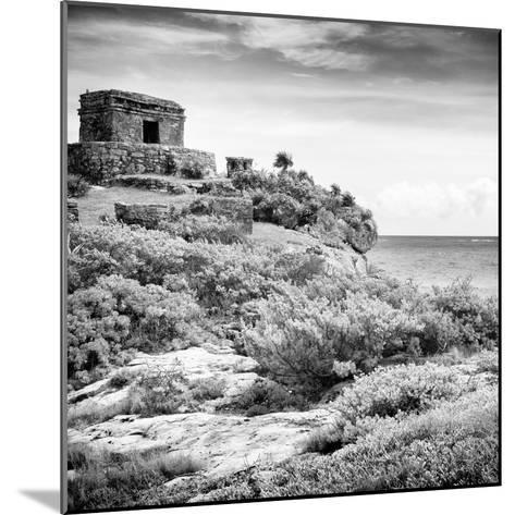¡Viva Mexico! Square Collection - Ancient Mayan Fortress in Riviera Maya V - Tulum-Philippe Hugonnard-Mounted Photographic Print