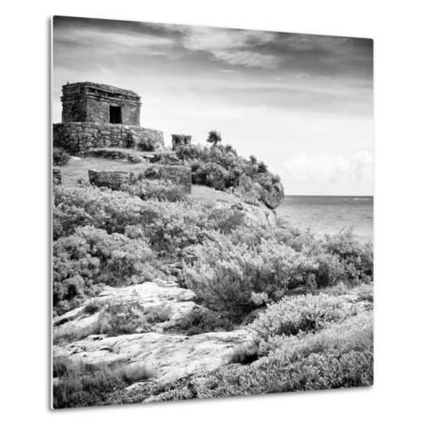 ¡Viva Mexico! Square Collection - Ancient Mayan Fortress in Riviera Maya V - Tulum-Philippe Hugonnard-Metal Print