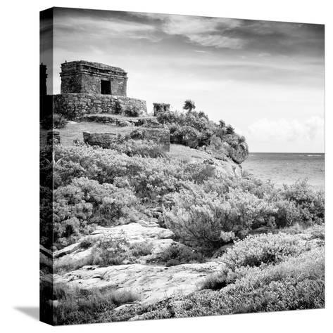 ¡Viva Mexico! Square Collection - Ancient Mayan Fortress in Riviera Maya V - Tulum-Philippe Hugonnard-Stretched Canvas Print