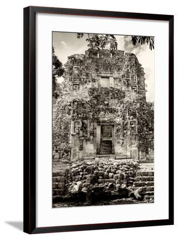 ¡Viva Mexico! B&W Collection - Mayan Ruins V-Philippe Hugonnard-Framed Art Print