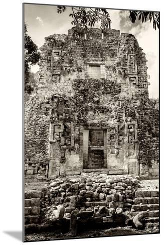 ¡Viva Mexico! B&W Collection - Mayan Ruins V-Philippe Hugonnard-Mounted Photographic Print