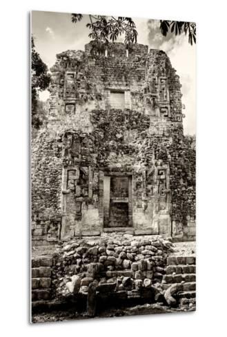 ¡Viva Mexico! B&W Collection - Mayan Ruins V-Philippe Hugonnard-Metal Print