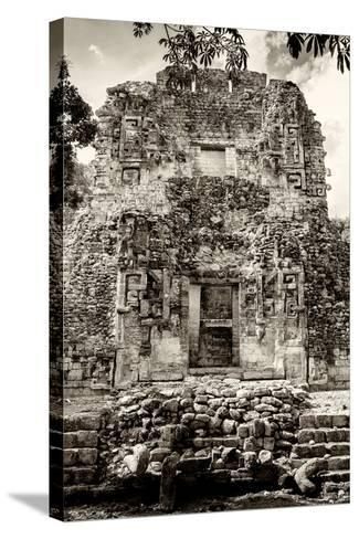 ¡Viva Mexico! B&W Collection - Mayan Ruins V-Philippe Hugonnard-Stretched Canvas Print