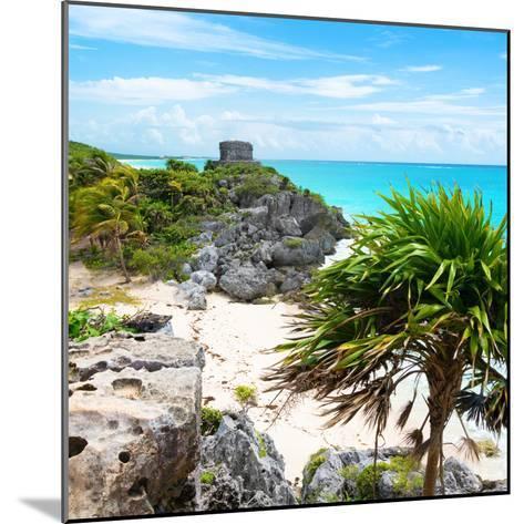 ¡Viva Mexico! Square Collection - Tulum Ruins along Caribbean Coastline-Philippe Hugonnard-Mounted Photographic Print