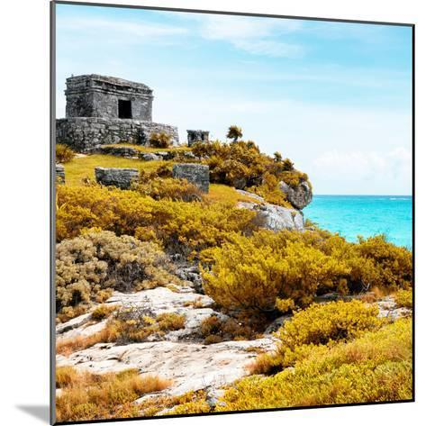 ¡Viva Mexico! Square Collection - Ancient Mayan Fortress in Riviera Maya VI - Tulum-Philippe Hugonnard-Mounted Photographic Print