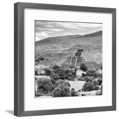 ¡Viva Mexico! Square Collection - Teotihuacan Pyramids Ruins III-Philippe Hugonnard-Framed Art Print