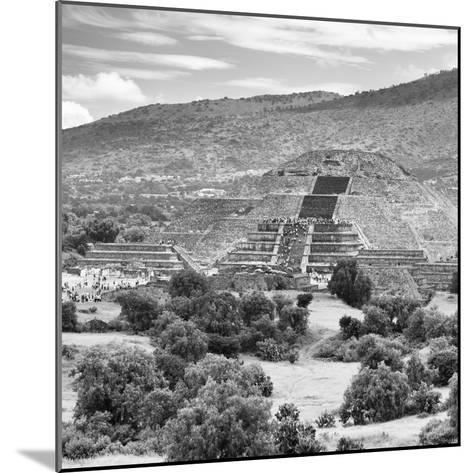¡Viva Mexico! Square Collection - Teotihuacan Pyramids Ruins III-Philippe Hugonnard-Mounted Photographic Print