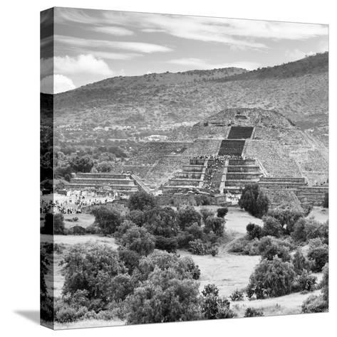 ¡Viva Mexico! Square Collection - Teotihuacan Pyramids Ruins III-Philippe Hugonnard-Stretched Canvas Print