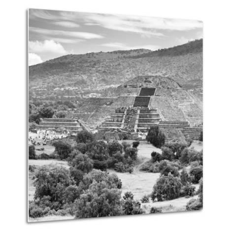 ¡Viva Mexico! Square Collection - Teotihuacan Pyramids Ruins III-Philippe Hugonnard-Metal Print