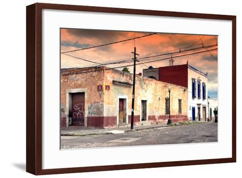 ?Viva Mexico! Collection - Mexican Street Scene at Sunset-Philippe Hugonnard-Framed Art Print