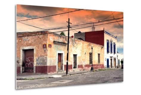 ?Viva Mexico! Collection - Mexican Street Scene at Sunset-Philippe Hugonnard-Metal Print