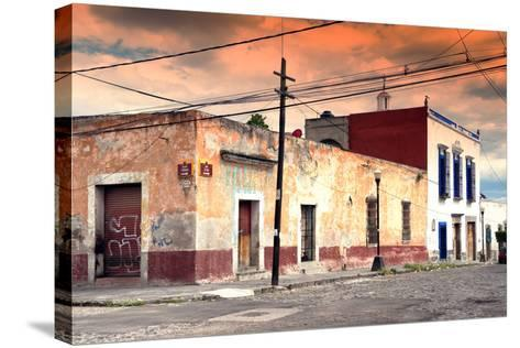 ?Viva Mexico! Collection - Mexican Street Scene at Sunset-Philippe Hugonnard-Stretched Canvas Print