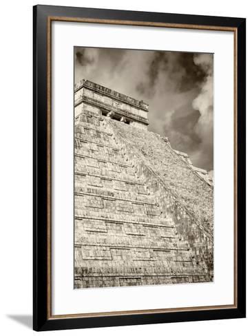 ?Viva Mexico! B&W Collection - Chichen Itza Pyramid XV-Philippe Hugonnard-Framed Art Print