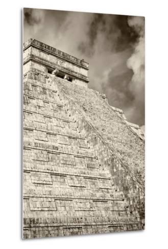 ?Viva Mexico! B&W Collection - Chichen Itza Pyramid XV-Philippe Hugonnard-Metal Print