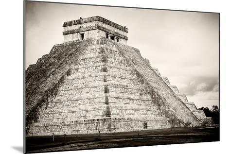 ¡Viva Mexico! B&W Collection - Chichen Itza Pyramid XXI-Philippe Hugonnard-Mounted Photographic Print
