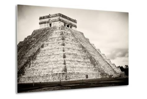 ¡Viva Mexico! B&W Collection - Chichen Itza Pyramid XXI-Philippe Hugonnard-Metal Print