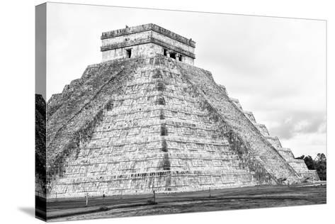 ¡Viva Mexico! B&W Collection - Chichen Itza Pyramid XXII-Philippe Hugonnard-Stretched Canvas Print