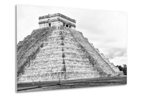 ¡Viva Mexico! B&W Collection - Chichen Itza Pyramid XXII-Philippe Hugonnard-Metal Print