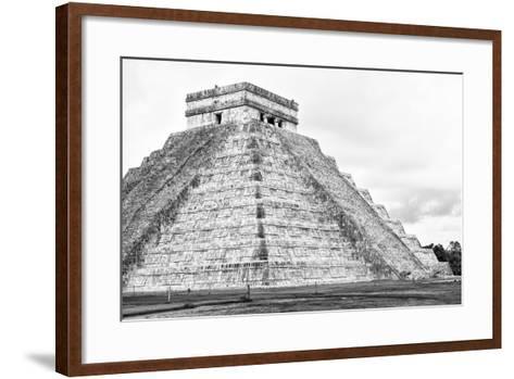 ¡Viva Mexico! B&W Collection - Chichen Itza Pyramid XXII-Philippe Hugonnard-Framed Art Print