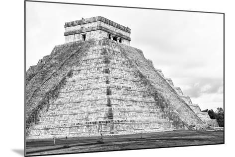 ¡Viva Mexico! B&W Collection - Chichen Itza Pyramid XXII-Philippe Hugonnard-Mounted Photographic Print