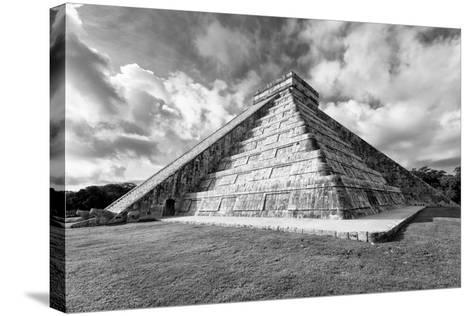 ?Viva Mexico! B&W Collection - Chichen Itza Pyramid XIX-Philippe Hugonnard-Stretched Canvas Print