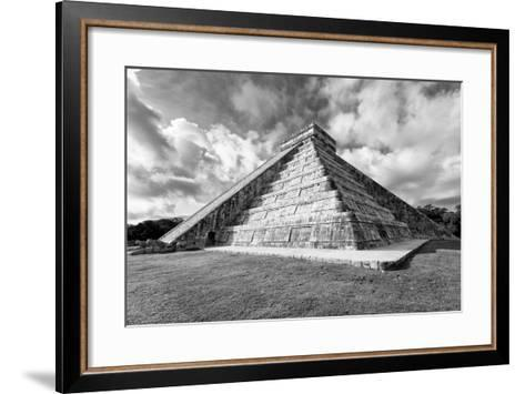 ?Viva Mexico! B&W Collection - Chichen Itza Pyramid XIX-Philippe Hugonnard-Framed Art Print